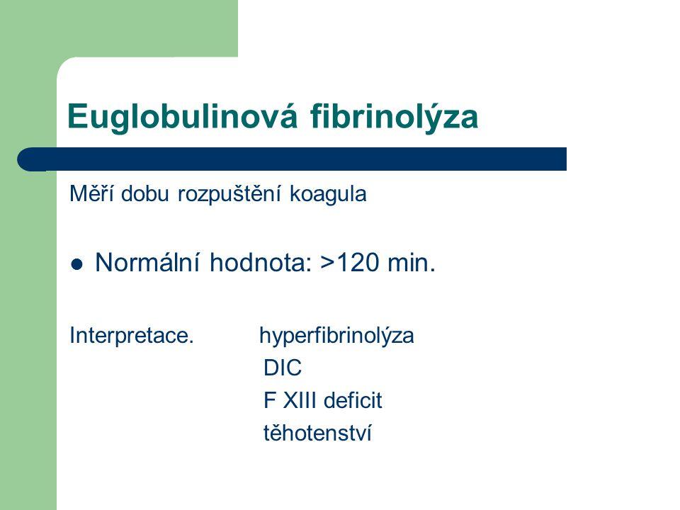 Euglobulinová fibrinolýza