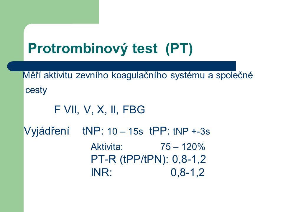 Protrombinový test (PT)