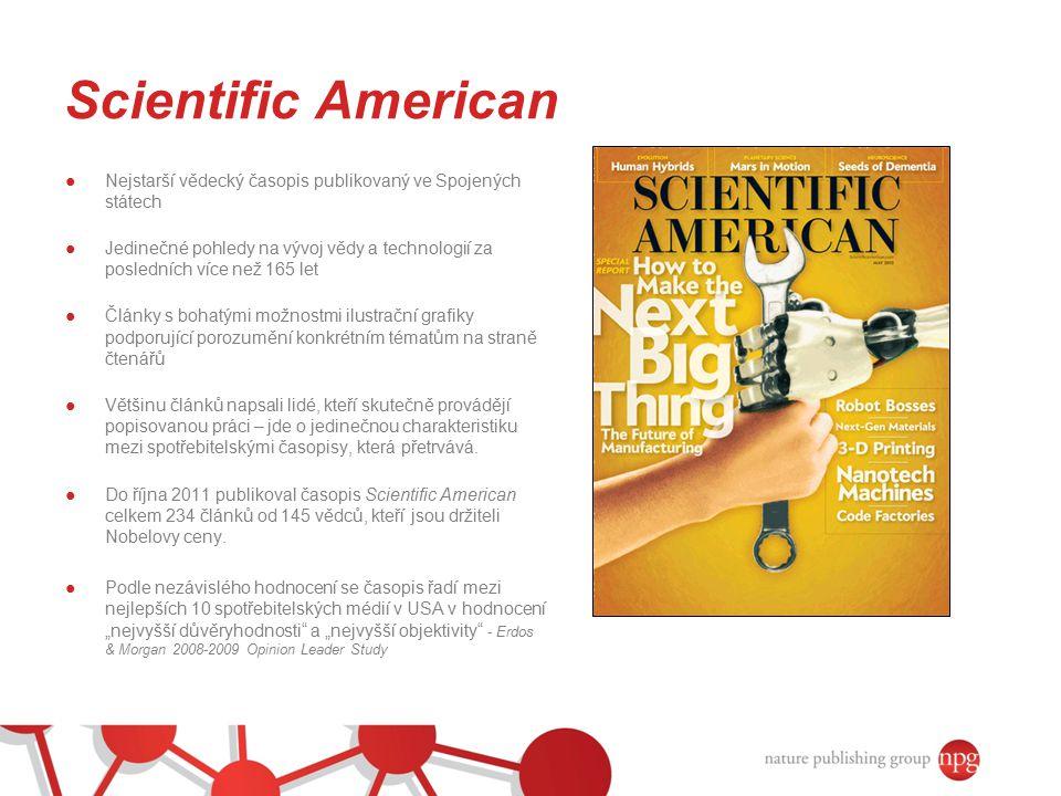 Scientific American Nejstarší vědecký časopis publikovaný ve Spojených státech.