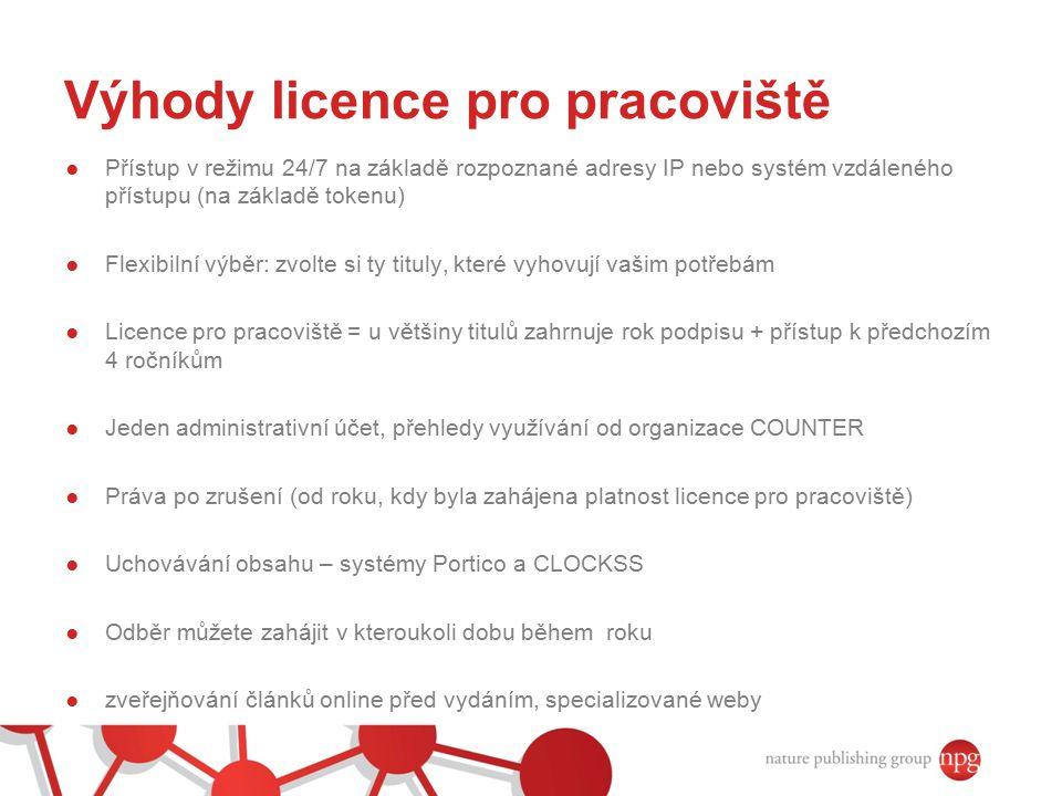 Výhody licence pro pracoviště