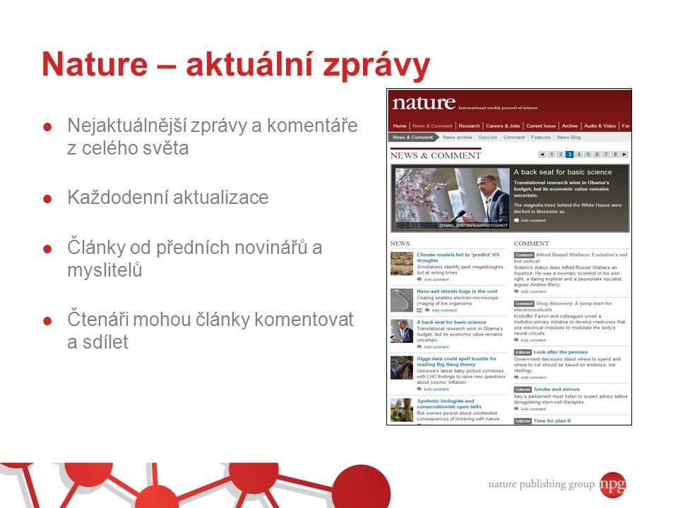 Nature – aktuální zprávy