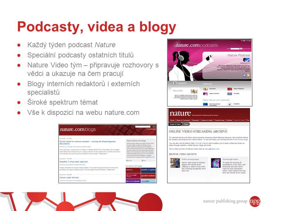 Podcasty, videa a blogy Každý týden podcast Nature