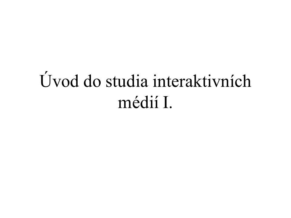 Úvod do studia interaktivních médií I.