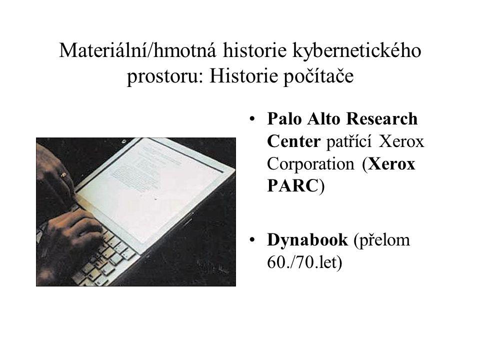 Materiální/hmotná historie kybernetického prostoru: Historie počítače