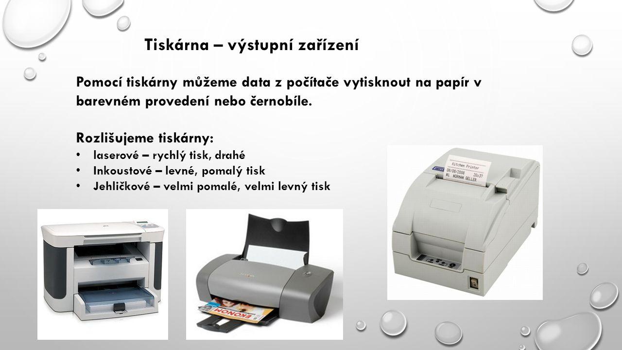 Tiskárna – výstupní zařízení