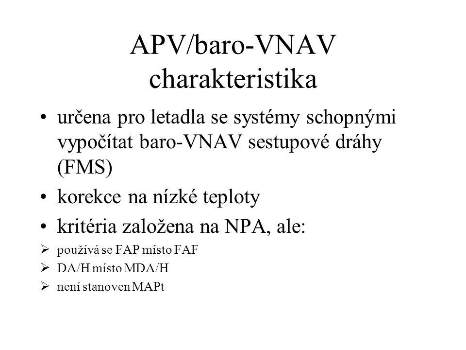APV/baro-VNAV charakteristika