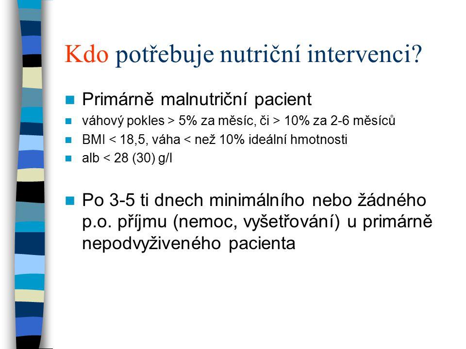 Kdo potřebuje nutriční intervenci