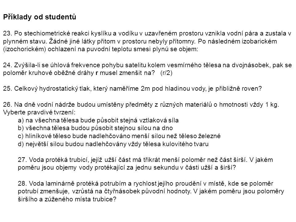 Příklady od studentů