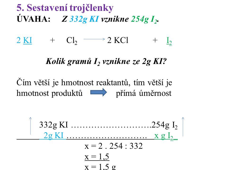Kolik gramů I2 vznikne ze 2g KI