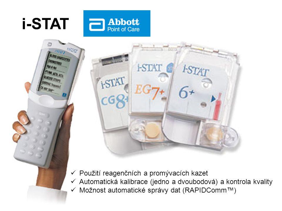 i-STAT Použití reagenčních a promývacích kazet