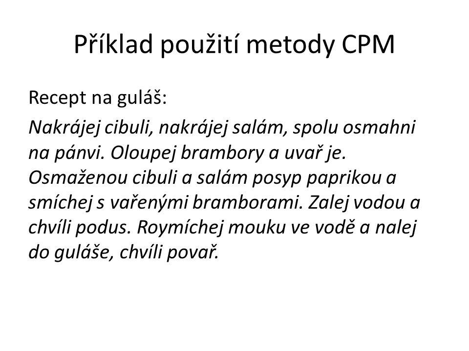 Příklad použití metody CPM