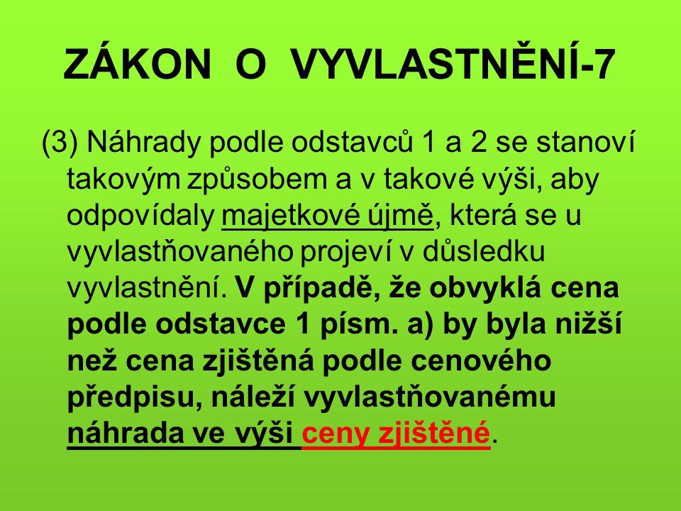 ZÁKON O VYVLASTNĚNÍ-7