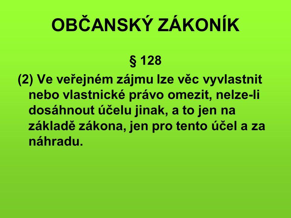 OBČANSKÝ ZÁKONÍK § 128.