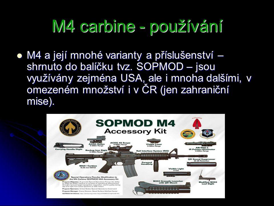 M4 carbine - používání