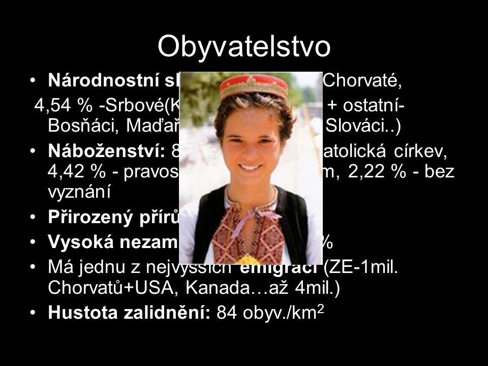 Obyvatelstvo Národnostní složení: 89,63 %- Chorvaté,