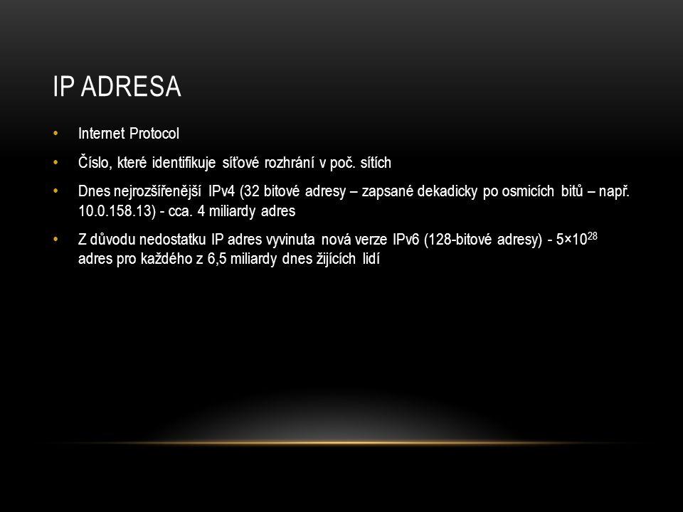 IP adresa Internet Protocol