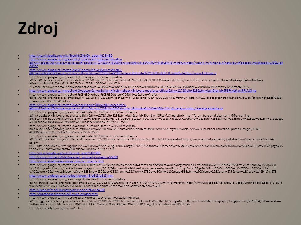 Zdroj http://cs.wikipedia.org/wiki/Stehl%C3%ADk_obecn%C3%BD