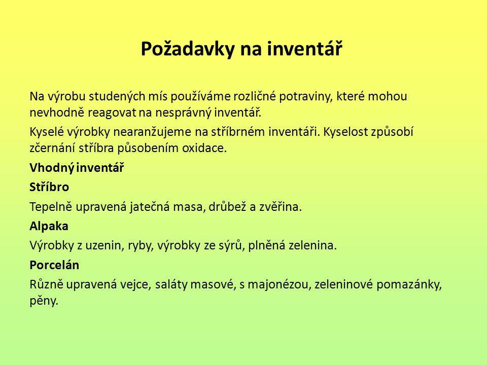 Požadavky na inventář