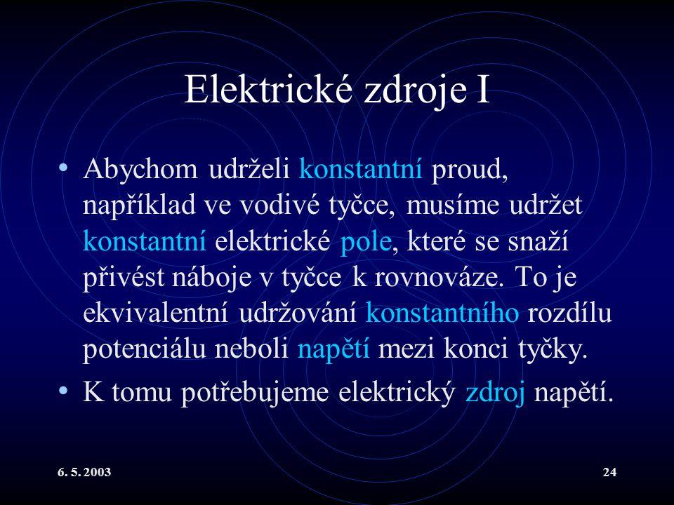 Elektrické zdroje I