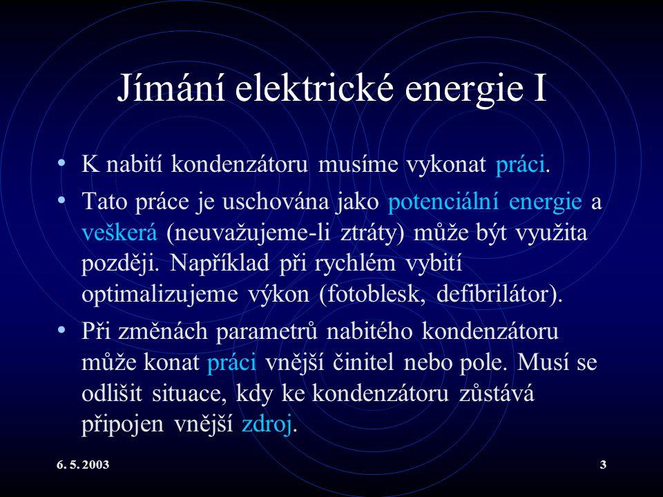 Jímání elektrické energie I