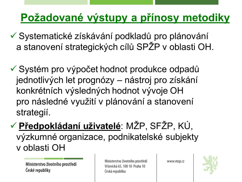 Požadované výstupy a přínosy metodiky