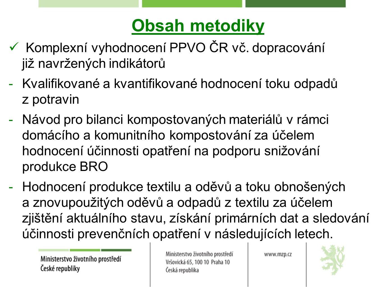 Obsah metodiky Komplexní vyhodnocení PPVO ČR vč. dopracování již navržených indikátorů.