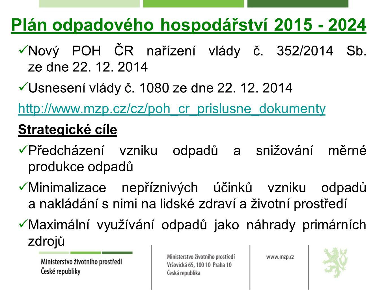 Plán odpadového hospodářství 2015 - 2024