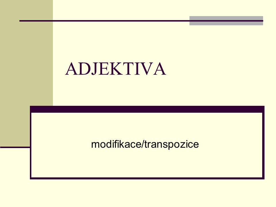 modifikace/transpozice
