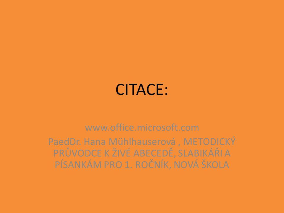 CITACE: www.office.microsoft.com