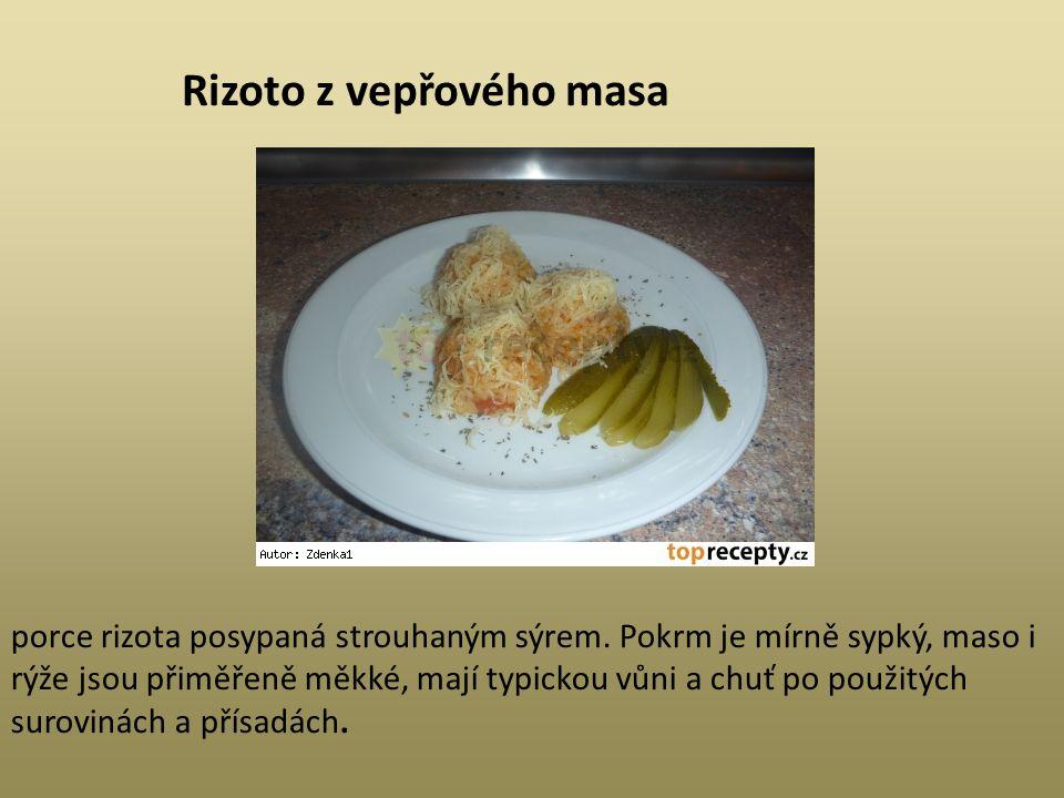 Rizoto z vepřového masa
