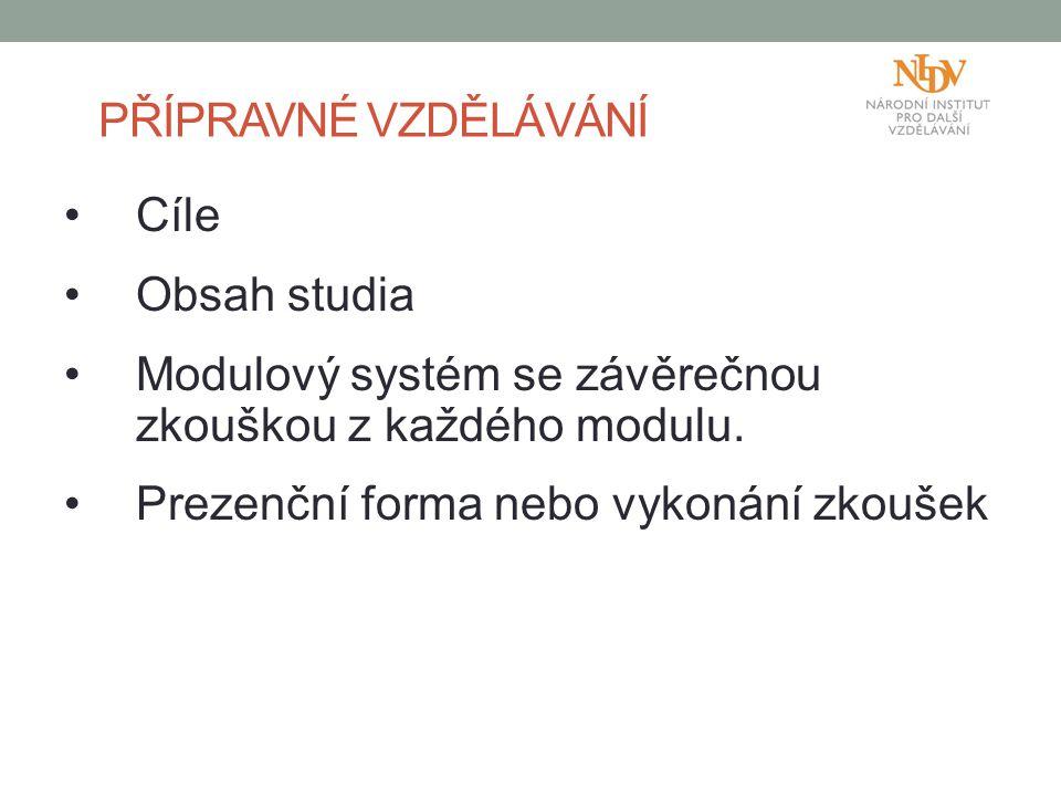 Modulový systém se závěrečnou zkouškou z každého modulu.