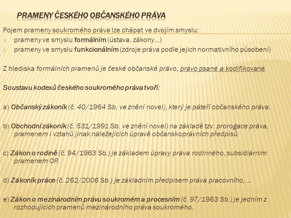 Prameny českého občanského práva