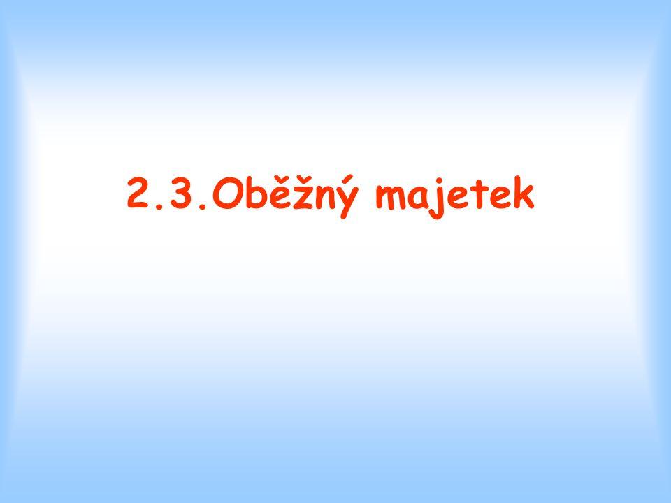 2.3.Oběžný majetek