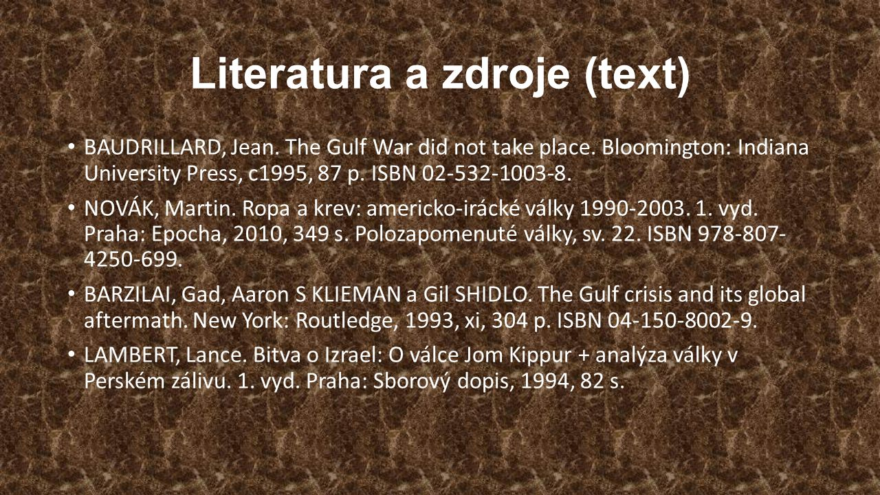 Literatura a zdroje (text)