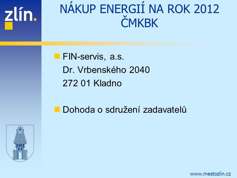 NÁKUP ENERGIÍ NA ROK 2012 ČMKBK