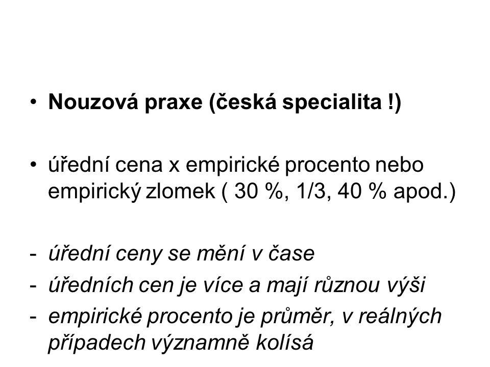 Nouzová praxe (česká specialita !)