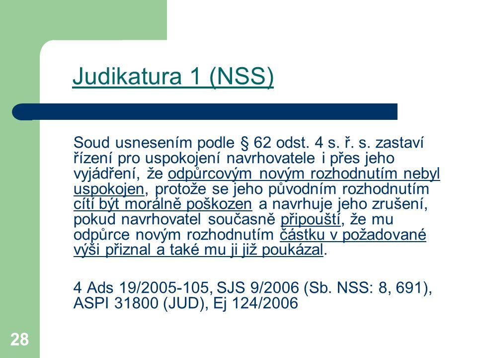 Judikatura 1 (NSS)