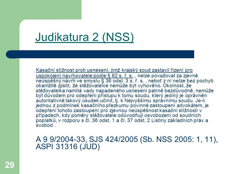 Judikatura 2 (NSS)