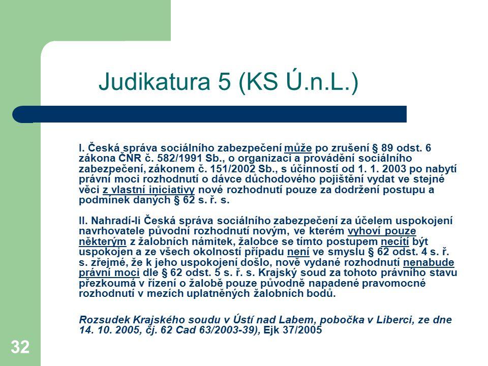 Judikatura 5 (KS Ú.n.L.)