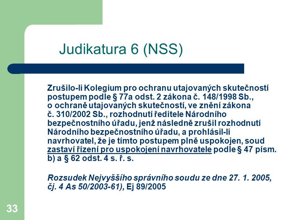 Judikatura 6 (NSS)