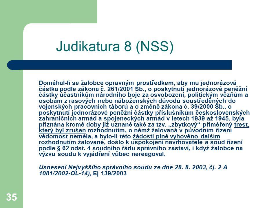 Judikatura 8 (NSS)