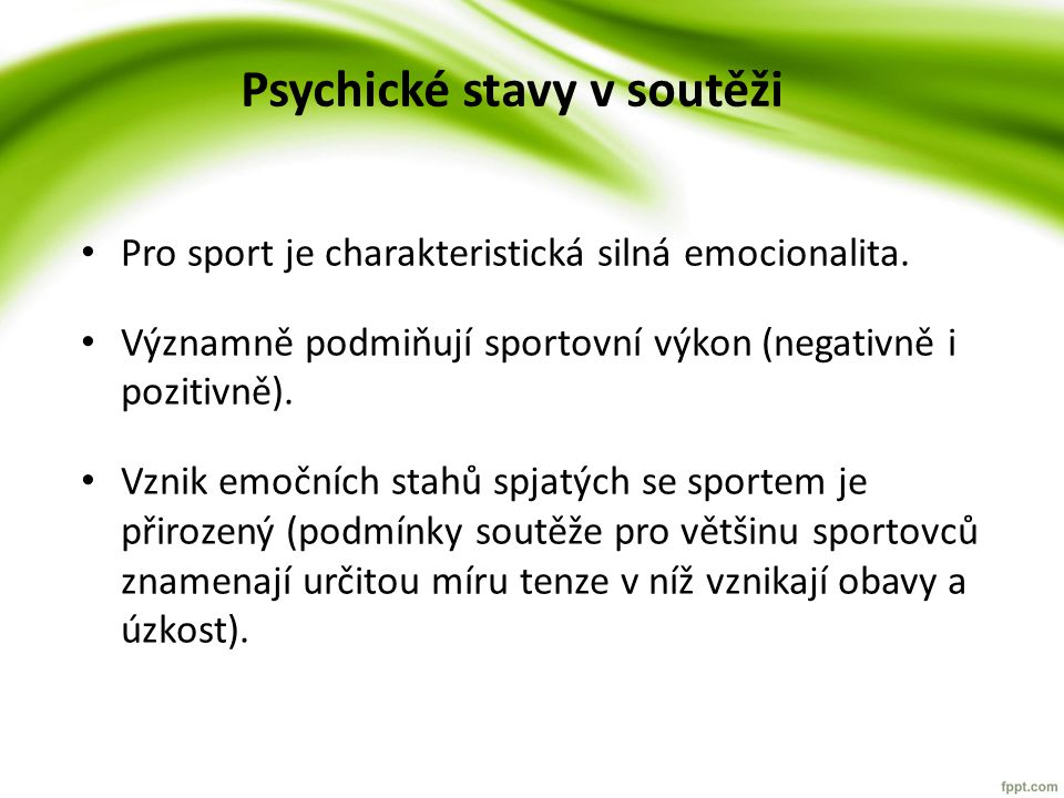 Psychické stavy v soutěži