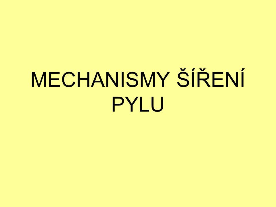 MECHANISMY ŠÍŘENÍ PYLU