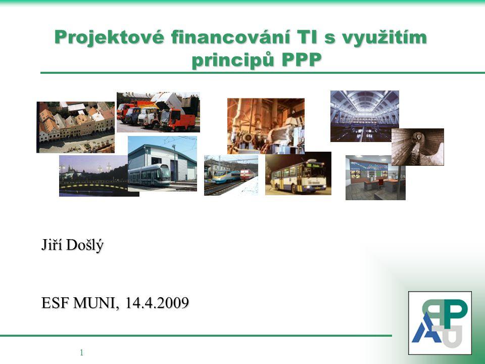 Projektové financování TI s využitím principů PPP