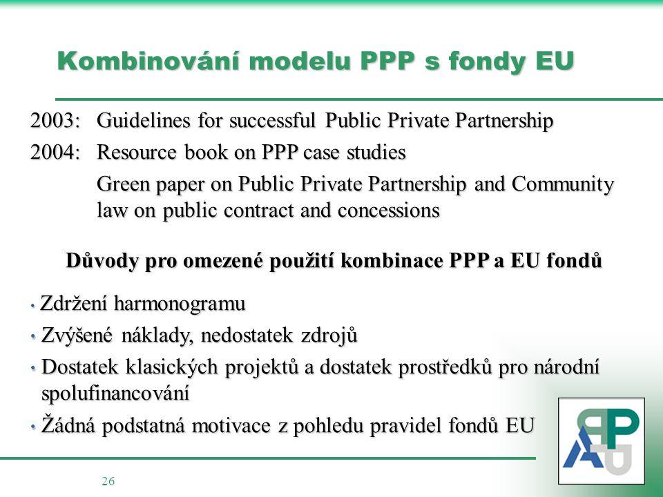 Kombinování modelu PPP s fondy EU