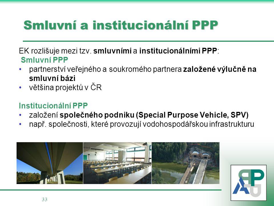 Smluvní a institucionální PPP