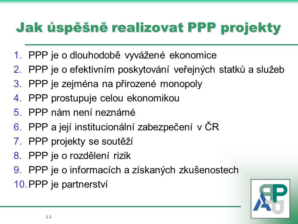 Jak úspěšně realizovat PPP projekty