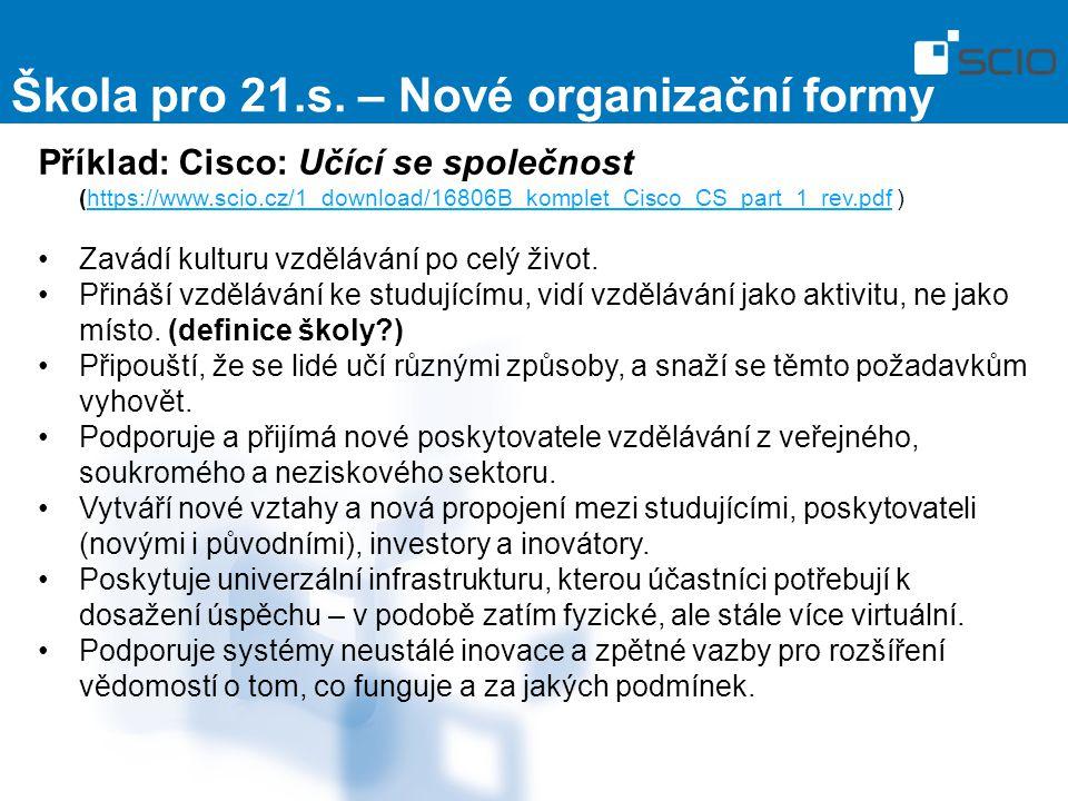 Škola pro 21.s. – Nové organizační formy