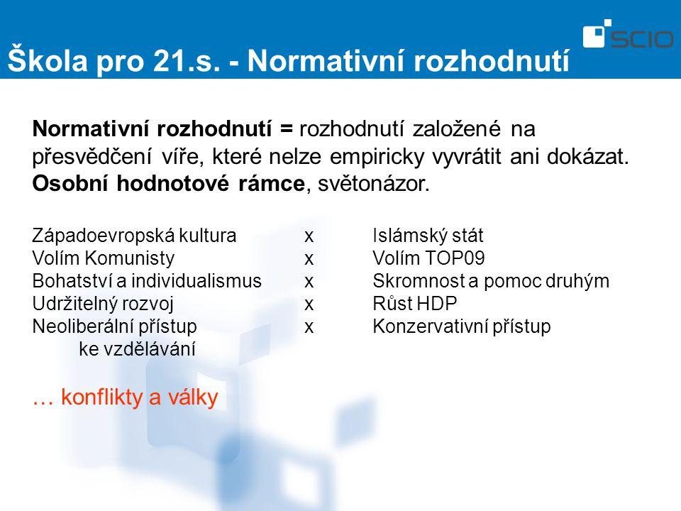Škola pro 21.s. - Normativní rozhodnutí