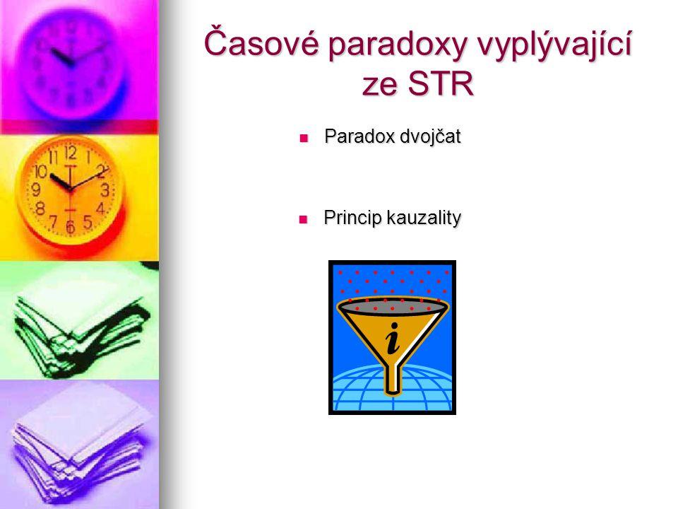 Časové paradoxy vyplývající ze STR